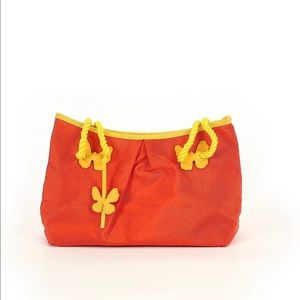 Groovy Escada Orange + Yellow Butterfly Retro Bag